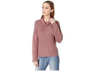 Lucky Brand Pointelle Turtleneck Sweater