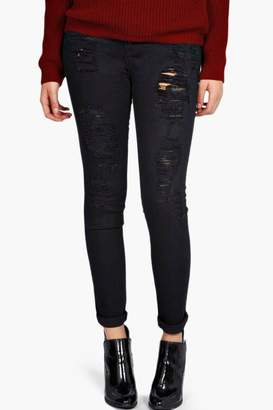 boohoo Plus Mel High Waisted Stretch Skinny Jeans
