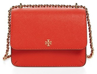 Tory Burch Mini Robinson Convertible Leather Shoulder Bag - Grey $275 thestylecure.com