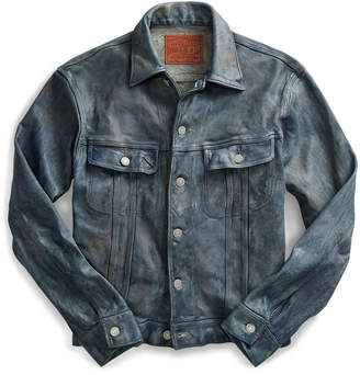 Ralph Lauren Indigo-Dyed Leather Jacket