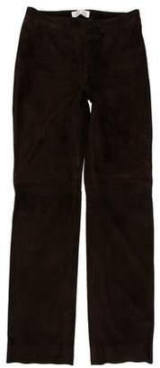 Valentino Lambskin Skinny-Leg Pants