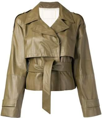 Drome layered cropped jacket