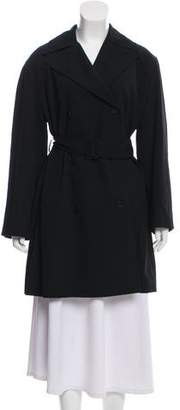 Calvin Klein Collection Oversize Wool Trench Coat