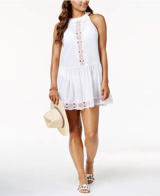 LaBlanca La Blanca Island Fare Cotton High-Neck Crochet-Trim Cover-Up Women's Swimsuit