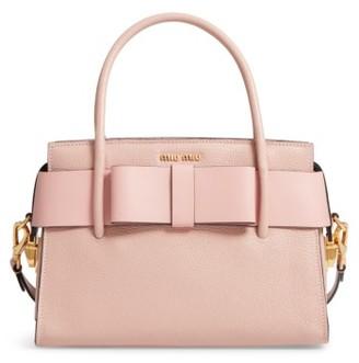 Miu Miu Madras Ficco Leather Satchel - Pink $1,970 thestylecure.com