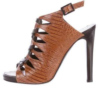 Proenza Schouler Embossed Leather Cage Sandals