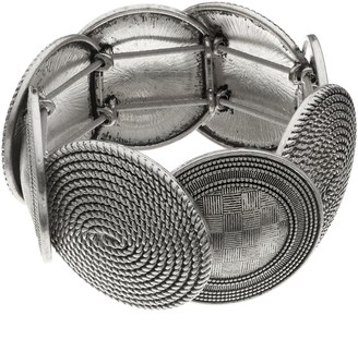 Dana Buchman Textured Oval Link Stretch Bracelet