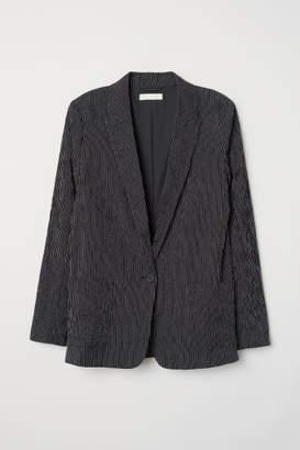 H&M Textured-weave Jacket - Black