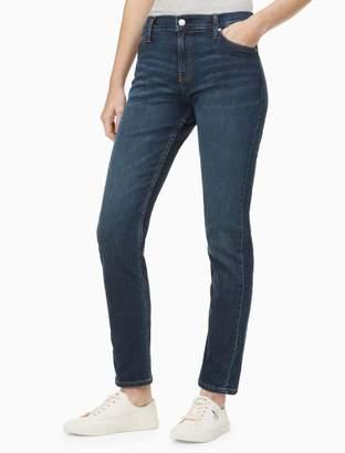 Calvin Klein slim mid rise west hampton blue jeans