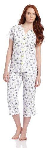 White Orchid Cardigan Pajama Set