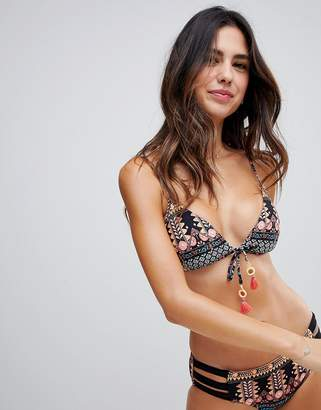 Seafolly spice tie front bikini bralet