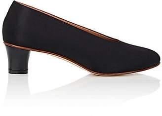 "Martiniano Women's ""High Glove"" Satin Pumps - Black"
