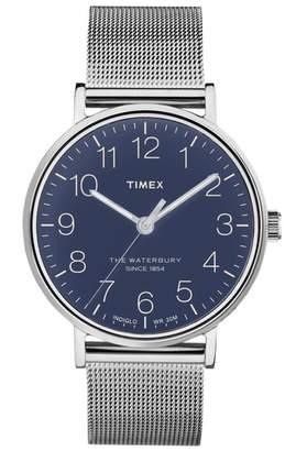 Timex R) Waterbury Mesh Strap Watch, 40mm