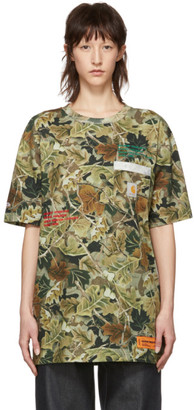 Heron Preston Green Carhartt Edition Camo T-Shirt