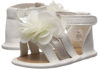 Baby Deer Soft Sole Gladiator with Flower Girl's Shoes