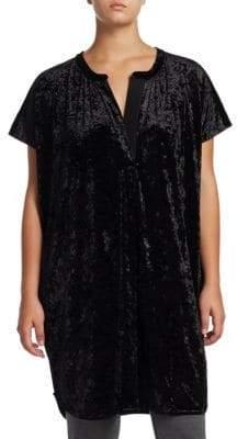 Joan Vass Plus Velvet Relaxed Tunic
