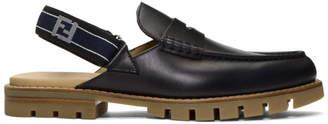 Fendi Black Forever Slingback Loafers