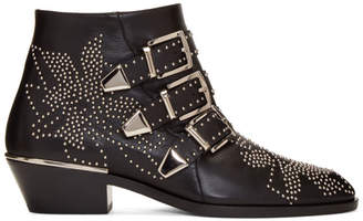 Chloé Black and Silver Susanna Boots