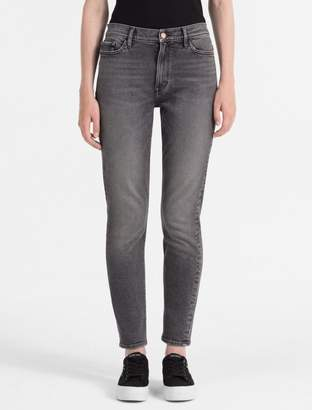 Calvin Klein slim fit high rise mid grey jeans