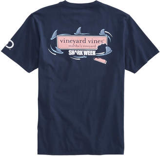 Vineyard Vines Mens Shark Week Circling Logo Box T-Shirt