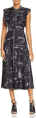 Burberry Parker Silk Midi Dress