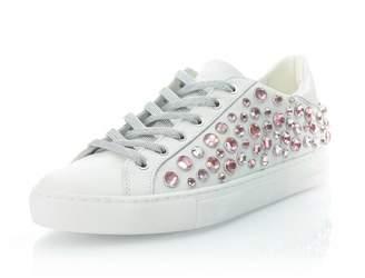 Crime London Pink Rhinestone Sneaker