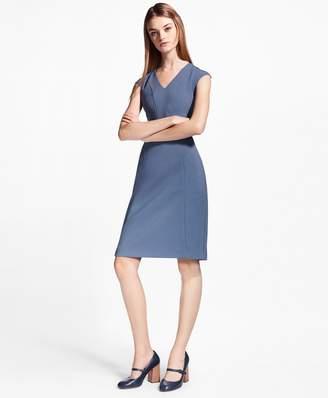 Brooks Brothers Crepe Satin Sheath Dress
