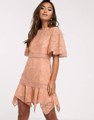 Keepsake lonely lace mini dress