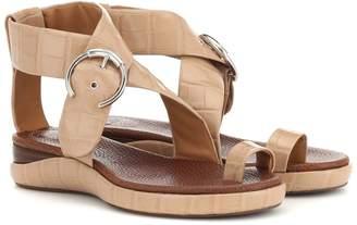 Chloé Wanda embossed leather sandals