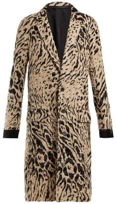 Haider Ackermann Leopard Flocked Tweed Coat - Womens - Cream Multi