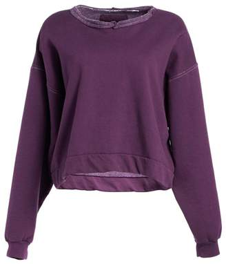 Rachel Comey Sweats Fond Raw Collar Drop Sleeve Sweatshirt
