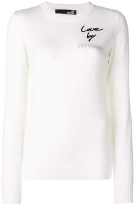 Love Moschino logo patch fitted sweater