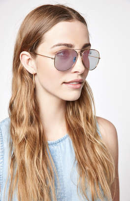 La Hearts Basic Rose Gold Aviator Sunglasses