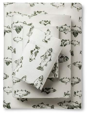 Eddie Bauer® Flannel Sheet Set – School Of Fish