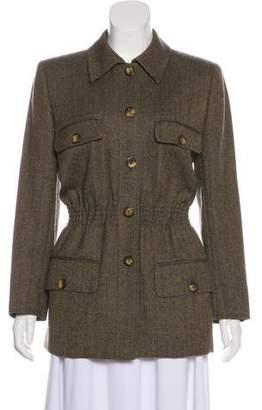 Valentino Herringbone Wool Jacket