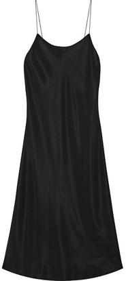 Helmut Lang - Washed-poplin Dress - Black $495 thestylecure.com