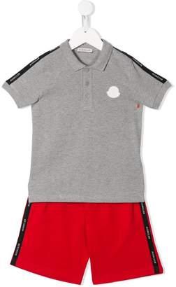 Moncler logo polo shirt and shorts