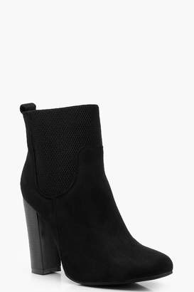 boohoo Loop Back Elastic Gusset Shoe Boots