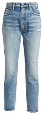 Moussy Everett High-Rise Boyfriend Skinny Ankle Jeans