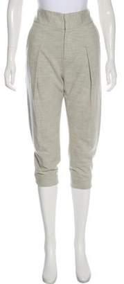 Helmut Lang Wool Straight-Leg Cropped Pants
