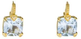 Judith Ripka 18K Synthetic Quartz & Diamond Lola Earrings