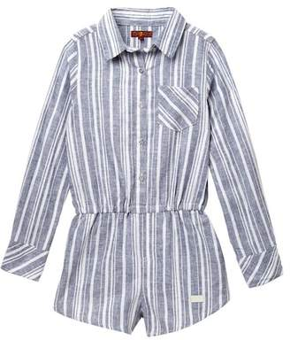 7 For All Mankind Long Sleeve Romper (Big Girls)