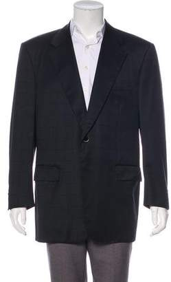 Stefano Ricci Super 140's Wool & Cashmere Checked Blazer