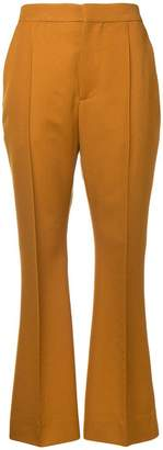 Marni high rise flared trousers