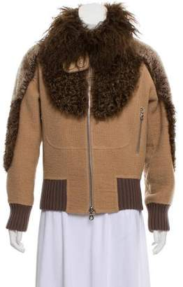 Marc Jacobs Shearling Trim Jacket