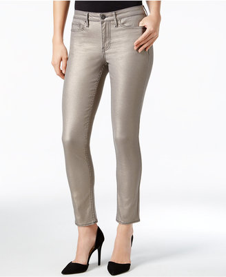 Calvin Klein Jeans Metallic Ankle Skinny Jeans $79.50 thestylecure.com