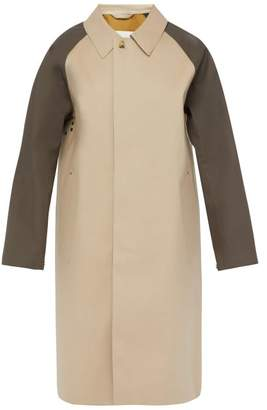 MACKINTOSH Single Breasted Bonded Cotton Overcoat - Mens - Beige