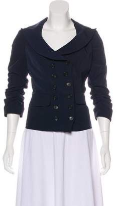 Elizabeth and James Ruched Accent Casual Jacket