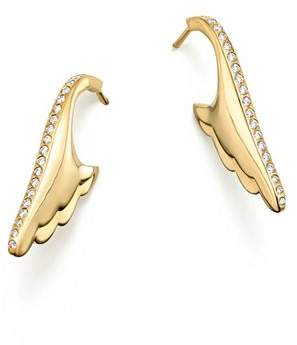 Temple St. Clair 18K Yellow Gold Wing Pavé Diamond Earrings - 100% Exclusive