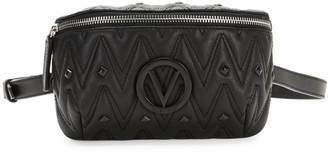 Mario Valentino Valentino By Fanny D Studded Leather Belt Bag